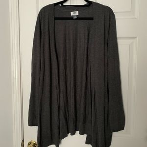 Old Navy Gray Open Front Cardigan 4X